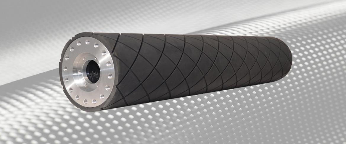 Grooved Elastomeric Carbon Fiber Roller